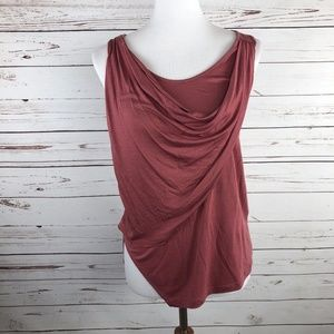 5/$25 SALE! Blush Pink Draped Sleeveless Top